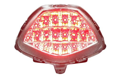 2011-2013 Honda CBR250R 2015-2016 CBR300R CB300F Integrated Sequential LED Tail ライト Clear レンズ (海外取寄せ品)