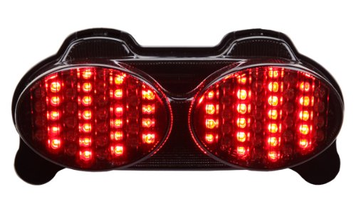 1998-2005 Kawasaki 忍者 ZR7(S) ZX-6R ZX-9R ZZR600 Integrated Sequential LED Tail ライト スモーク レンズ (海外取寄せ品)