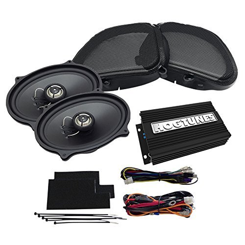 Hogtunes REV200RGKIT-AA フロント スピーカー キット (200 ワット (100W x 2 CH) Amp with for 1998-2013 ハーレーダビッドソン Harley-Davidson FLTR ロード Glide Models) (海外取寄せ品)