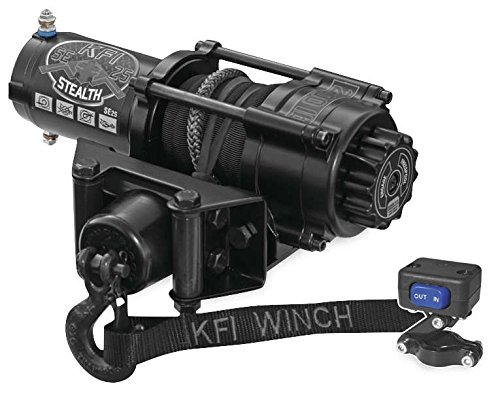 New KFI 2500 lb ステルス Edition Winch & Model Specific Mounting Bracket - 1993-1999 Polaris ビッグ Boss 400 6x6 ATV (海外取寄せ品)