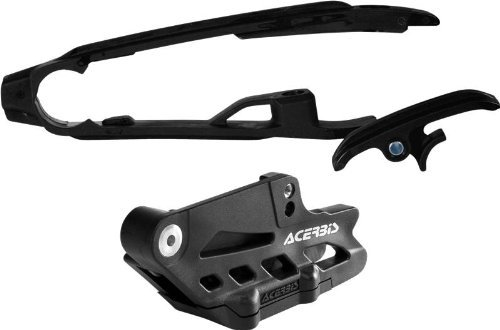 Acerbis チェーン Guide and Slider キット - ブラック 2314050001 (海外取寄せ品)