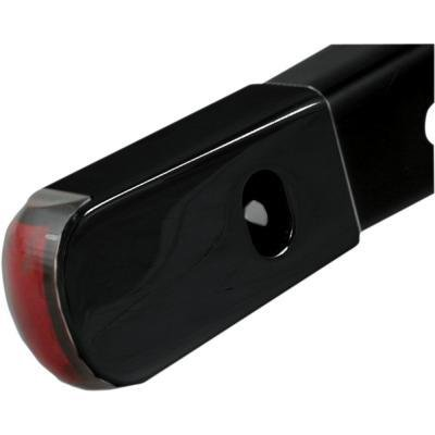 Alloy Art LED Fender Marker ライト BLK/レッド for Harley XL 04-10 (海外取寄せ品)
