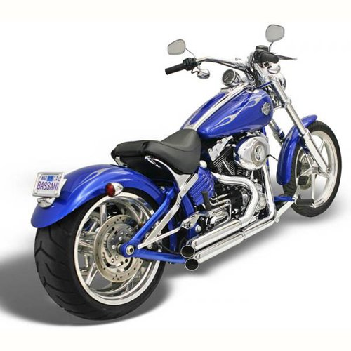Bassani Manufacturing プロ ストリート Exhaust System with Heat Shield - Turn-アウト カット - クローム, カラー: クローム 1S33D (海外取寄せ品)