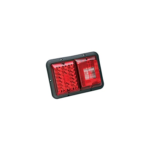Bragman LED Recessed Horizontal Mount Double Taillight (Red, Incandescent バックアップ with ブラック Base) (海外取寄せ品)