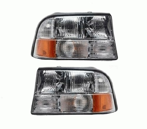 This Is A ブランド Brand New Aftermarket Passenger & ドライバー Side Headlight Assembly ペア That フィット A 1998-2005 GMC Jimmy, 1998-2004 GMC Sonoma, 1998-2001 Oldsmobile Bravada DOT SAE Approved Composite コンビネーション Type OE リプ・ (海外取寄せ品)