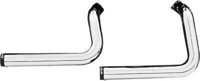 Freedom パフォーマンス Staggered デュアル Exhaust System - クローム with ブラック Tips, カラー: クローム HD00392 (海外取寄せ品)