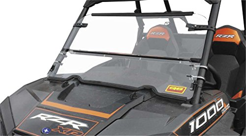 New Quadboss Folding Windshield - 2004-2007 ヤマハ Rhino?660 UTV (海外取寄せ品)