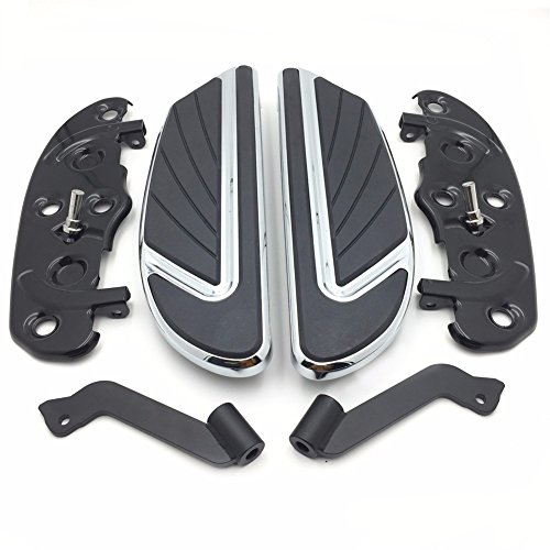 HTT- クローム Airflow ライダー Footboard キット For 2012-2016 FLD/ 1986-later FL Softail (except FLS, FLSS, FLSTFB, FLSTFBS and FXSE)/ 1986-later ツーリング and 2008-later Trike models (海外取寄せ品)