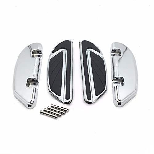 HTT- クローム Airflow Passenger Footboard キット For Harley 2006-later Dyna/ 2000-later Softail/ 1986-later ツーリング models equipped with passenger footboard supports (海外取寄せ品)
