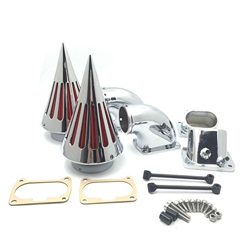 HTT Motorcycle クローム Billet Aluminum Cone Spike エアー Cleaner キット Intake フィルタ For Suzuki Boulevard M109 (All Years) (海外取寄せ品)