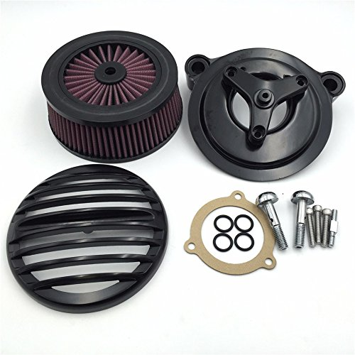 HTT Glide Motorcycle Electra ブラック Grille エアー Cleaner Intake フィルタ ストリート System キット For 16-later FXDLS Softail 08-later ツーリング and Trike ファット ボーイ CVO ロード キング Electra Glide ストリート Glide (海外取寄せ品), 豊富町:5d52355b --- ferraridentalclinic.com.lb