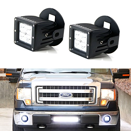 iJDMTOY 40W CREE ハイ Power Cubic LED Fog Light キット w/ Bumper メタル Mounting Brackets For 2006-2014 Ford F150 F-150, 2011-2014 Lincoln マーク LT (海外取寄せ品)