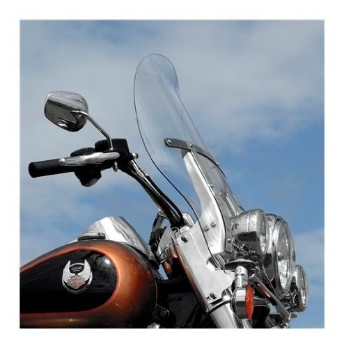 Klock Werks Kw05-01-0217 Clear Billboard Flare Windshield For ハーレーダビッドソン Harley-Davidson ロード キング Models With H Bracket (2310-0342) (海外取寄せ品)
