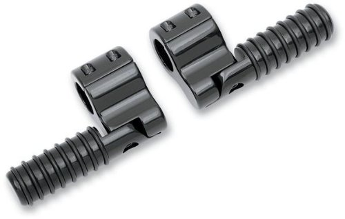 Lindby ブラック Anodized Clamp-On O-リング Footpegs , Finish: Anodized, カラー: ブラック BL810 (海外取寄せ品)