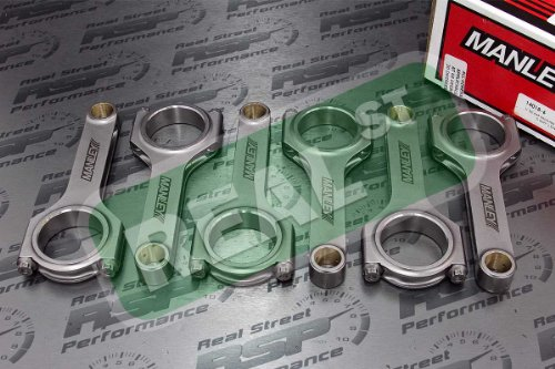Manley 14018-6 H-Beam Connecting Rod セット (海外取寄せ品)
