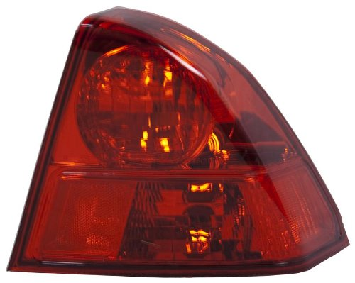 OE リプレイスメント Honda Civic Passenger Side Taillight Assembly (Partslink ナンバー HO2801153) (海外取寄せ品)