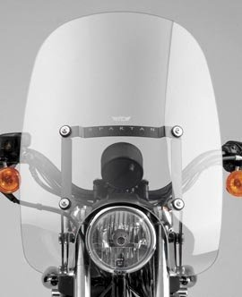 National Cycle スパルタ Windshield Clear - ハーレーダビッドソン Harley Davidson (See Specifications) - 18.5 x 18 インチ - N21201 (海外取寄せ品)