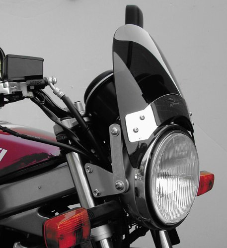 National Cycle Fork Mount Flyscreen Windshield For Various Metric Motorcycles (See Specifications) - クローム プレート/ ダーク スモーク - N2537 (海外取寄せ品)