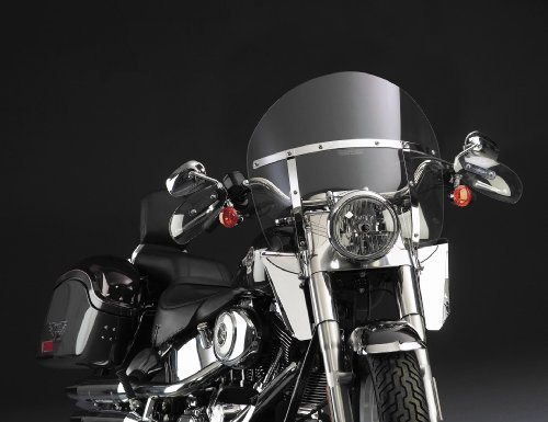 National Cycle Switchblade Chopped Windshield For カワサキ Kawasaki VN1600 Vulcan クラシック 2003-2008 / Nomad 2005-2008 - スモーク - N21414 (海外取寄せ品)