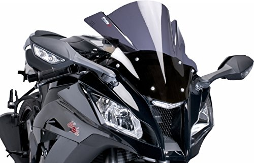 Puig レース Windscreen ダーク スモーク for カワサキ Kawasaki ZX6R ZX6RR 03-04 (海外取寄せ品)
