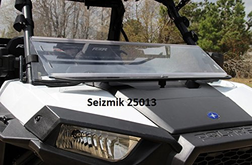 Seizmik 25013 RZR Versa-Fold Windshield (HARD POLY) (海外取寄せ品)
