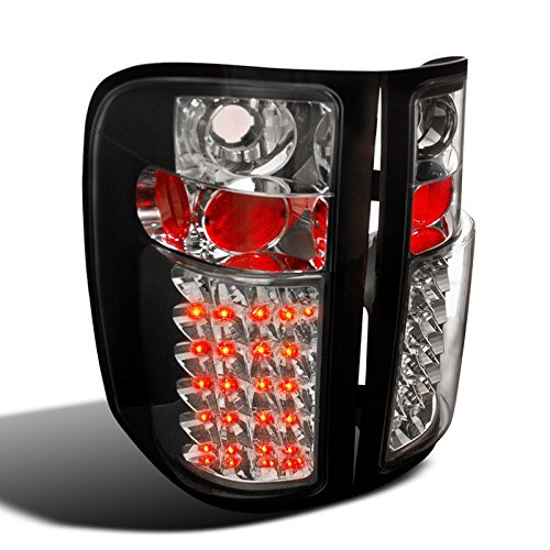 Spec-D Tuning LT-SIV07JMLED-TM Chevy Silverado 1500 2500 3500 LED Tail ライト ブラック (海外取寄せ品)