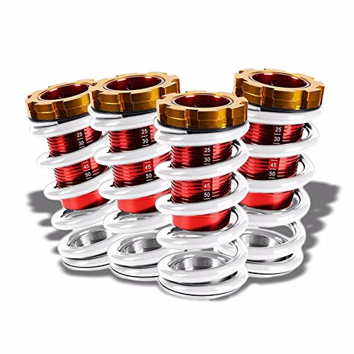 フロント/Rear Scaled ホワイト Lowering スプリング レッド Coilover For Honda Civic/CR-X/Del Sol/Acura Integra (海外取寄せ品)
