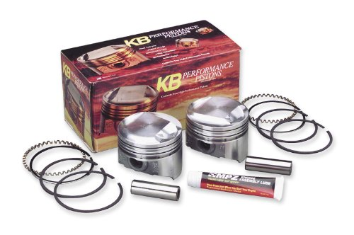 KB パフォーマンス 80 in. Forged Piston セット, 10.5:1 Compression, ドーム for Harley D (海外取寄せ品)