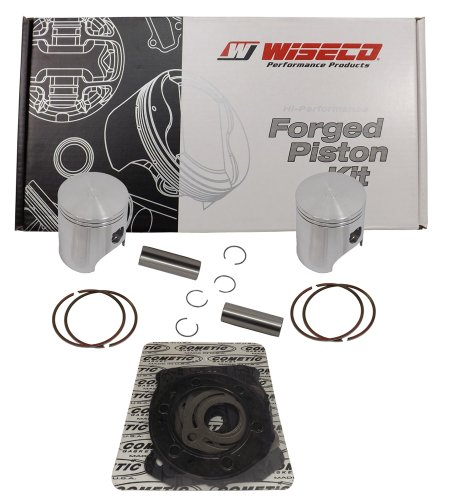Wiseco (SK1233) 77.00mm 2-Stroke Piston キット for スキー-Doo Snowmobile (海外取寄せ品)