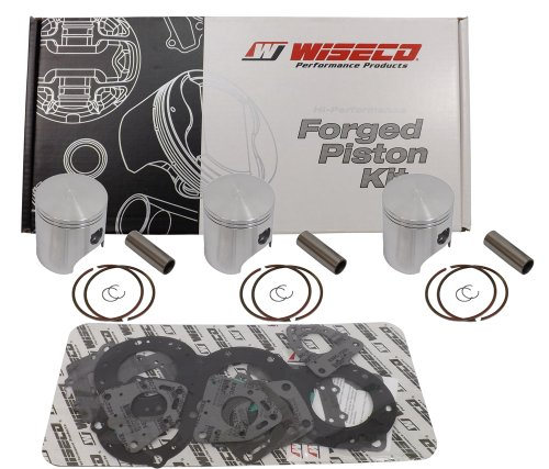 Wiseco (SK1224) 64.50mm 2-Stroke Piston キット for スキー-Doo Snowmobile (海外取寄せ品)