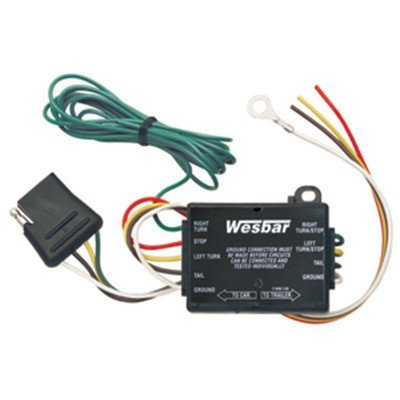 Wesbar Taillight Converter with 12-インチ Leads and 60-インチ 4-Flat Car エンド Connector (海外取寄せ品)