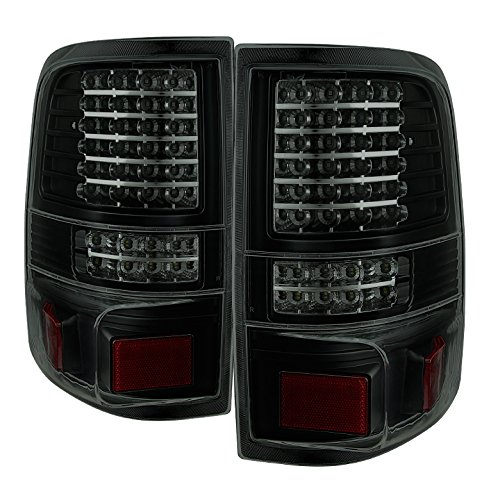 Xtune ALT-JH-FF15004-LED-G2-BSM Tail Light (Ford F150 Styleside 04-08 (Not フィット ヘリテージ & SVT) LED s - ブラック Smoked) (海外取寄せ品)