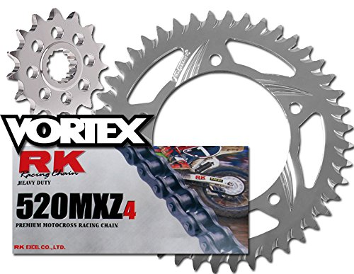 RK Vortex Blk MX Alu QA チェーン and Sprocket キット for SUZ RM125 06-08 (海外取寄せ品)