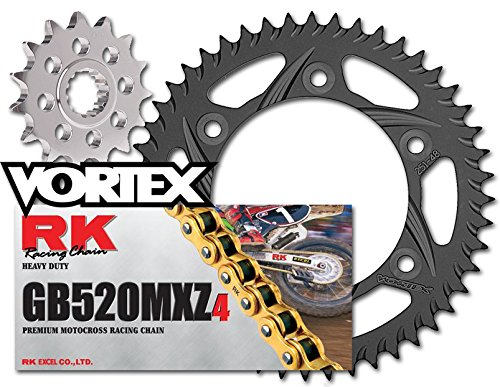 RK Vortex Gld MX Blk QA チェーン and Sprocket キット for KAW KX125 96-97 (海外取寄せ品)