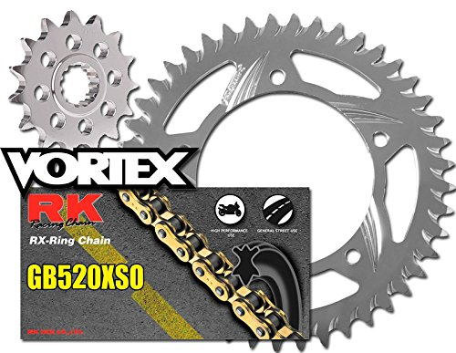 RK Vortex Gld O-リング Alu QA チェーン and Sprocket キット for KAW ZX600F (ZX-6R) 95-97 (海外取寄せ品)