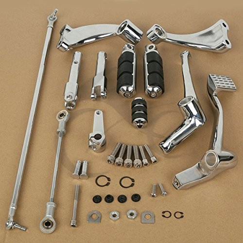 TCMT モーター クローム Forward Controls Pegs Levers Linkages For Harley Sportster 883 Iron (XL883N)2009 10 11 12 2013 Sportster 883 Low(XL883L) 2005 06 07 08 09 2010 (海外取寄せ品)
