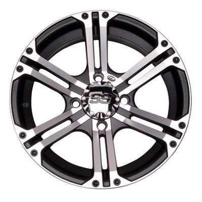 ITP SS212 ALLOY WHEEL マシーン 12x7 4/137 5+2 CAN-AM (海外取寄せ品)