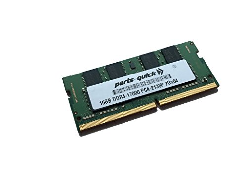 16GB Memory for Acer Aspire VX5-591G-76RK DDR4 2133MHz SODIMM RAM (PARTS-クイック BRAND) (海外取寄せ品)