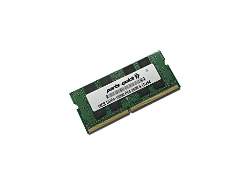 16GB メモリ memory for HP ZBook Studio G4 Mobile Workstation DDR4 PC4-19200 2400MHz SODIMM RAM (PARTS-クイック BRAND) (海外取寄せ品)