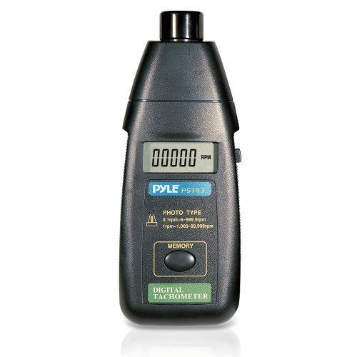 Pyle PST43 プレシジョン Non Contact Laser Tachometer with Extended RPM レンジ, デジタル LCD スクリーン and プロテクティブ ケース 「汎用品」(海外取寄せ品)