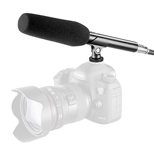 Neewer External Mono Condenser Microphone キット for ビデオ Camcorders and Canon Nikon DSLRs, 10.47 インチ/26.6 centimeters Microphone with メタル Holder, Anti-ウインド フォーム キャップ, XLR ケーブル, 3.5mm Input Socket 「汎用品」(海外取寄せ品)