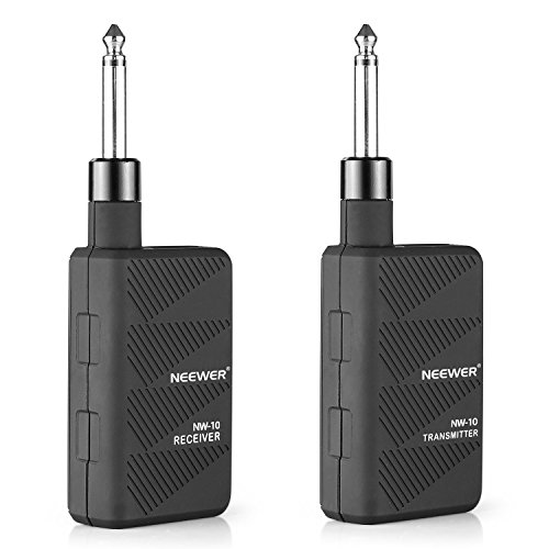 NeewerR ブラック 2.4GHZ Audio Wireless デジタル Guitar Transmitter and レシーバ with Batteries 「汎用品」(海外取寄せ品)