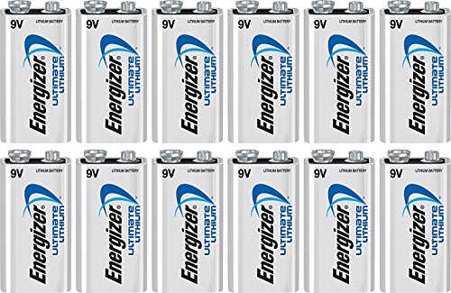 12 Energizer 9V アルティメイト Lithium Batteries L522 バルク 「汎用品」(海外取寄せ品)