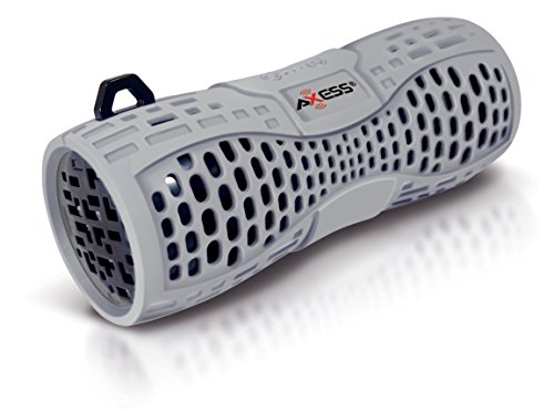 AXESS SPBW1035GY Portable ウォーター Resistant ブルートゥース Loud スピーカー System with Speakerphone to Answer your Calls In グレー 「汎用品」(海外取寄せ品)