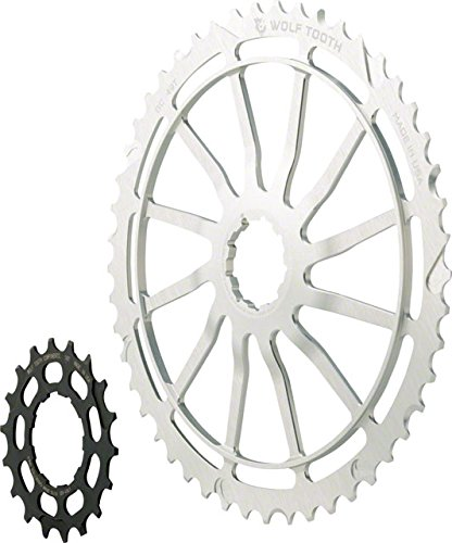 Wolf Tooth コンポーネント GC49: 49T + 18T Cogs, シルバー, For SRAM NX Cassettes (海外取寄せ品)