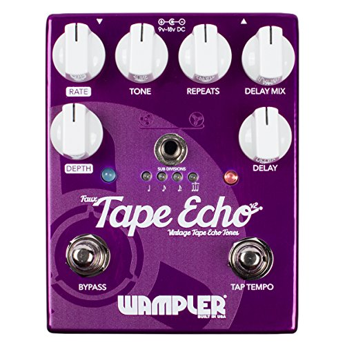 Wampler Pedals フォークス テープ Echo V2 Delay Effects Pedal (海外取寄せ品)