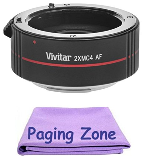 2x Teleconverter (4 Elements) + PZ Cleaning クロス for Canon EF 28-200mm f/3.5-5.6 USM (海外取寄せ品)