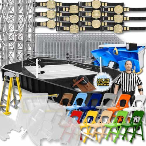 Super Deluxe Wrestling アクション Figure リング & Accessories Special Deal For WWE Wrestling Figures (海外取寄せ品)