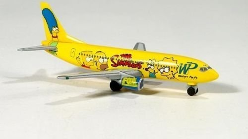 Herpa 500470 ウエスタン Pacific Airlines ザ シンプソンズ カラーリング Boeing 737-300 (海外取寄せ品)
