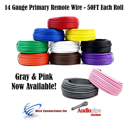 6 Rolls Audiopipe 100/' Feet 10 GA Gauge AWG Primary Remote Wire Auto Power Cable